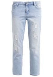 Dorothy Perkins Riley Straight Leg Jeans White Light Blue