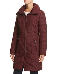 Anne Klein Wing Collar Puffer Coat Compare At 240 Brandy