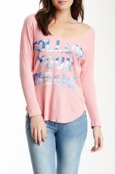 Rebel Yell Dreams Thermal Tee Pink