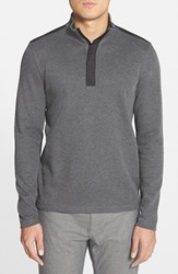 Men's Boss 'Persano' Regular Fit Quarter Zip Sweatshirt Grey
