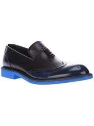 Sergio Rossi Contrast Loafers Black