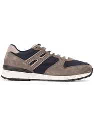 Hogan Rebel Panelled Sneakers Grey