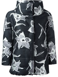 Herno Floral High Neck Jacket Grey