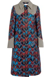 Mary Katrantzou Stardom Jacquard Coat Navy