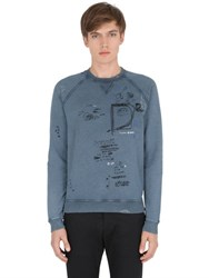 Dsquared Printed And Washed Cotton Sweatshirt