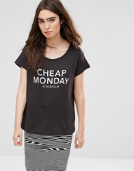Cheap Monday Have Logo T Shirt Punk Black