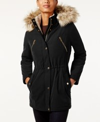 Nautica Faux Fur Trim Hooded Parka Black