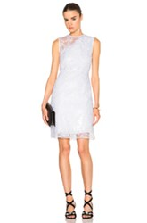 Carven Asymmetrical Organza Dress In White