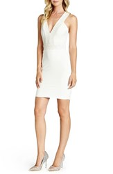 Women's Dress The Population 'Rylee' Sequin Strap Crepe Body Con Dress Ivory Pearl