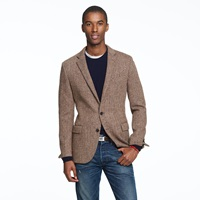 J.Crew Ludlow Sportcoat In Herringbone Harris Tweed Wool