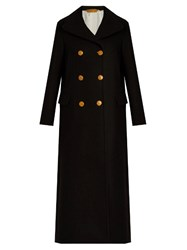 Golden Goose Johanna Double Breasted Wool Coat Navy