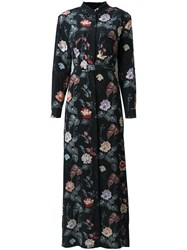Equipment Floral Print Maxi Dress Black
