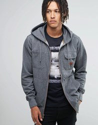 Billabong Zip Up Hoodie With Chest Pocket Grey