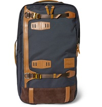 Master Piece Potential Convertible Leather Trimmed Canvas Backpack Blue