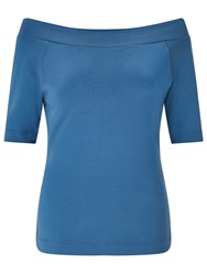 Alice By Temperley Somerset Off The Shoulder Top Dusty Blue