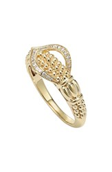 Women's Lagos 'Caviar Gold' Diamond Gold Ring