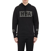 Hood By Air Men's Crystal Logo French Terry Hoodie Black Blue Black Blue