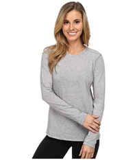 Brooks Distance Long Sleeve Top Heather Oxford Women's Long Sleeve Pullover Gray