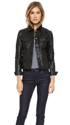 Joe's Jeans Leather Jacket Black