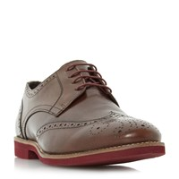 Linea Bedknobs Colour Pop Sole Brogue Shoes Brown
