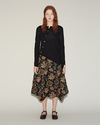 Comme Des Garcons Calico Patchwork Skirt Black Multi