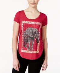 Self Esteem Juniors' Elephant Graphic T Shirt