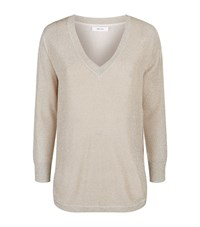 Reiss Bless Metallic Knit Female Brown