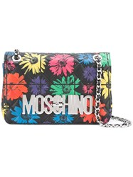 Moschino Floral Quilted Crossbody Bag Black