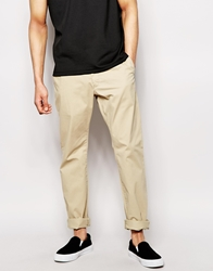 French Connection Stretch Cotton Chinos In Slim Fit Sand