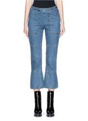 Rachel Comey 'Pursue' Flare Cropped Jeans Blue