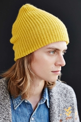 Urban Outfitters Brushed Beanie Yellow