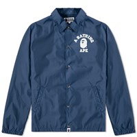 A Bathing Ape College Coach Jacket Blue
