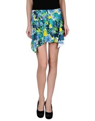 Just Cavalli Mini Skirts Turquoise