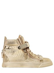 Giuseppe Zanotti 30Mm Embossed Mirror Leather Sneakers