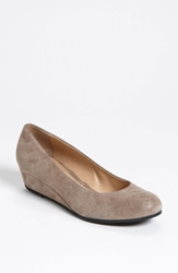 French Sole 'Gum Drop' Wedge Pump Taupe