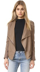 Bb Dakota Kenrick Soft Leather Jacket Mocha