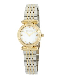 Escada Ion Gold Plated Stainless Steel Mini Two Hand Vanessa Watch W Diamonds
