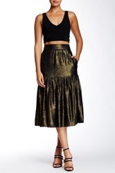 Twelfth St. By Cynthia Vincent Metallic Midi Skirt