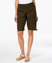 Styleandco. Style And Co. Foldover Cargo Shorts Only At Macy's Evening Olive