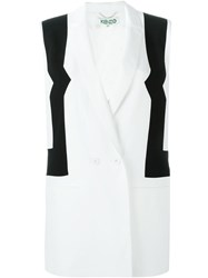 Kenzo Double Breasted Waistcoat White