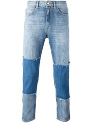 Love Moschino Patchwork Slim Fit Jeans Blue
