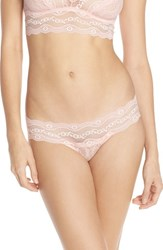 Women's B.Tempt'd By Wacoal 'Lace Kiss' Bikini Crystal Rose