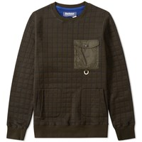 Barbour X White Mountaineering Whiting Sweat Green