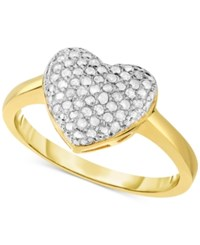 Victoria Townsend Diamond Heart Ring 1 4 Ct. T.W. In 18K Gold Plated Sterling Silver