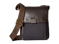Scully Adrian Messenger Bag Brown Navy Messenger Bags