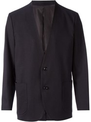 En Route Collarless Blazer Black