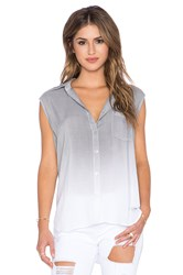 Saint Grace Edge Button Up Tank Gray
