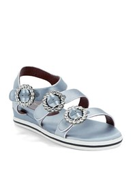 Marc By Marc Jacobs Strappy Flatform Sandals Silver