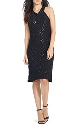 Women's Lauren Ralph Lauren Sequin Stripe A Line Dress
