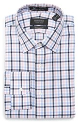 Nordstrom Men's Big And Tall Men's Shop Smartcare Tm Traditional Fit Plaid Dress Shirt Pink Snow